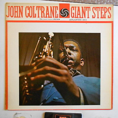 John Coltrane Giant step Atlantic mono black label DG signed by Coltrane