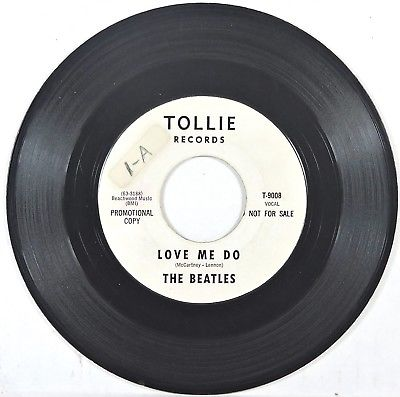 BEATLES Tollie T-9008 'Love Me Do/PS I Love You'  WHITE LABEL PROMO VG++ HEAR