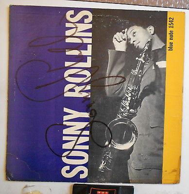 Sonny Rollins w.D.Byrd Blue Note SINED by Sonny Lexington DG/cover 47W