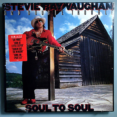 STEVIE RAY VAUGHAN SOUL TO SOUL RARE SEALED ORIG '85 EPIC LP w/STICKER BEAUTIFUL