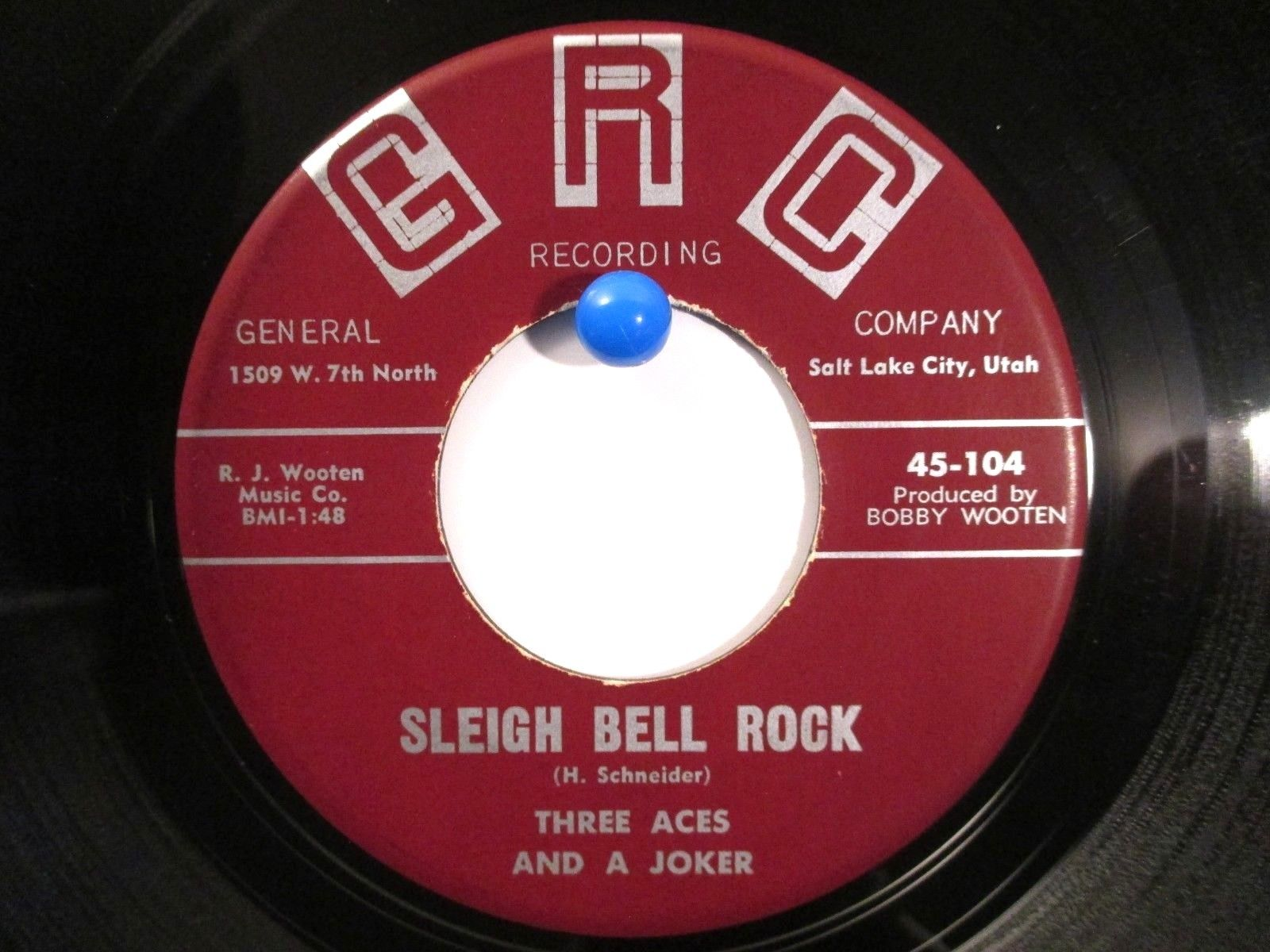 Three Aces and A Joker  GRC 104  Sleigh Bell Rock / Booze Party Rare Rockabilly