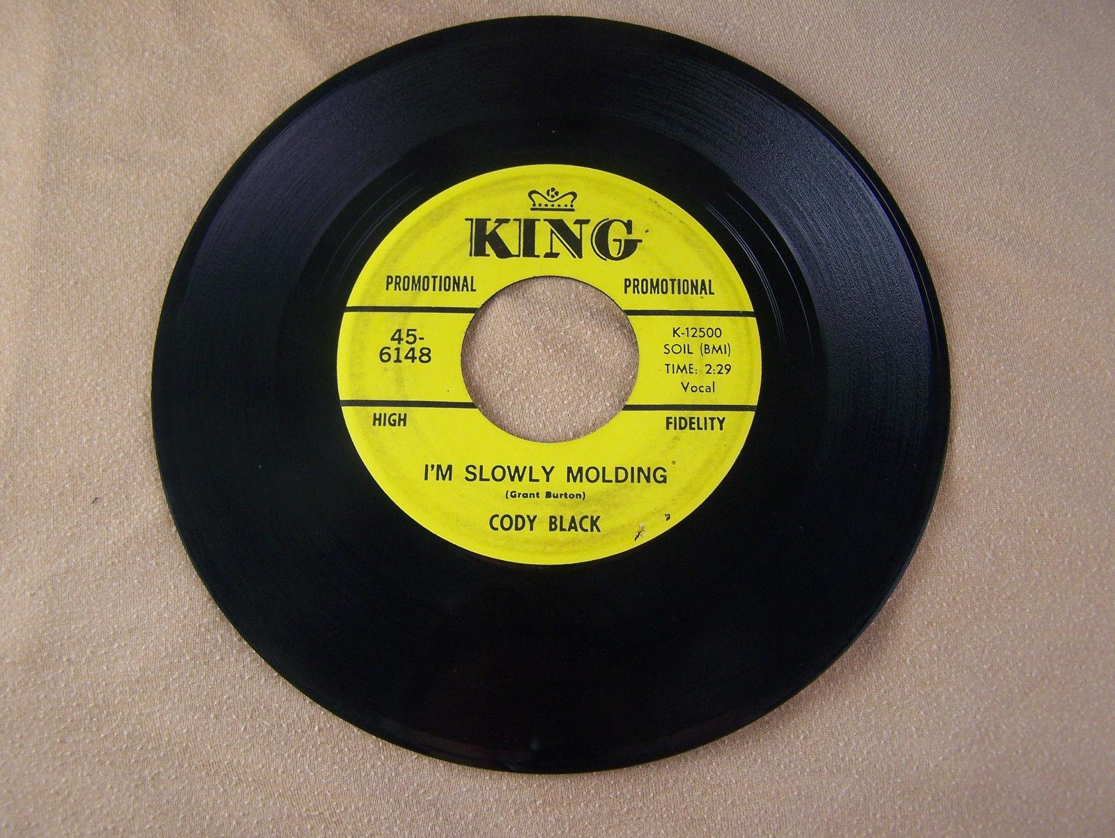 Cody Black Keep On Keeping On b/w I'm Slowly Molding King Promo 45-6148 VG Rare