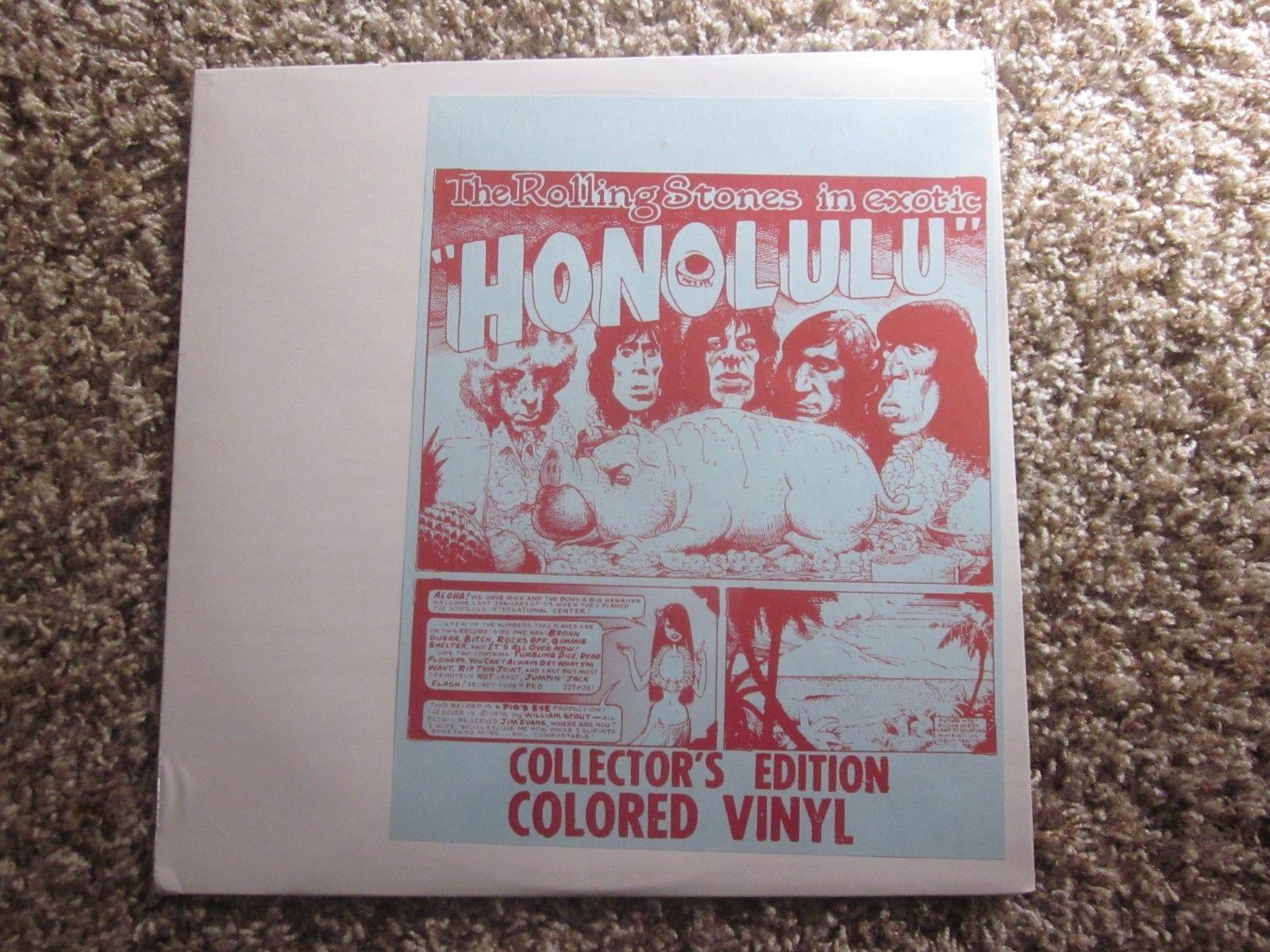 ROLLING STONES EXOTIC HONOLULU LP MINT/SEALED Pigs Eye Production 1974 BLUE WAX?