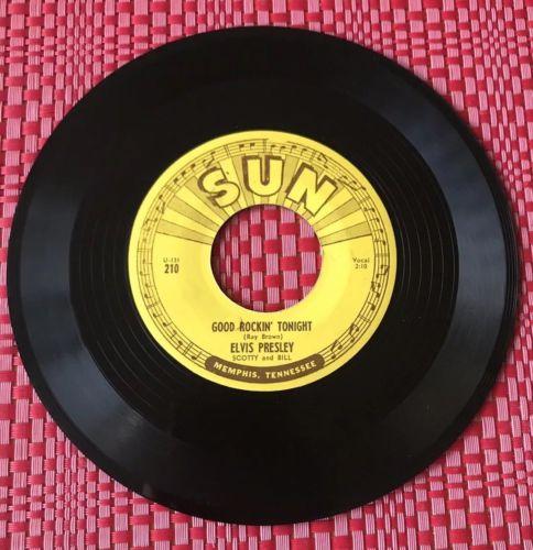 ELVIS Sun 210  Good Rockin'Tonight / I Don't Care If The Sun Don't Shine EX