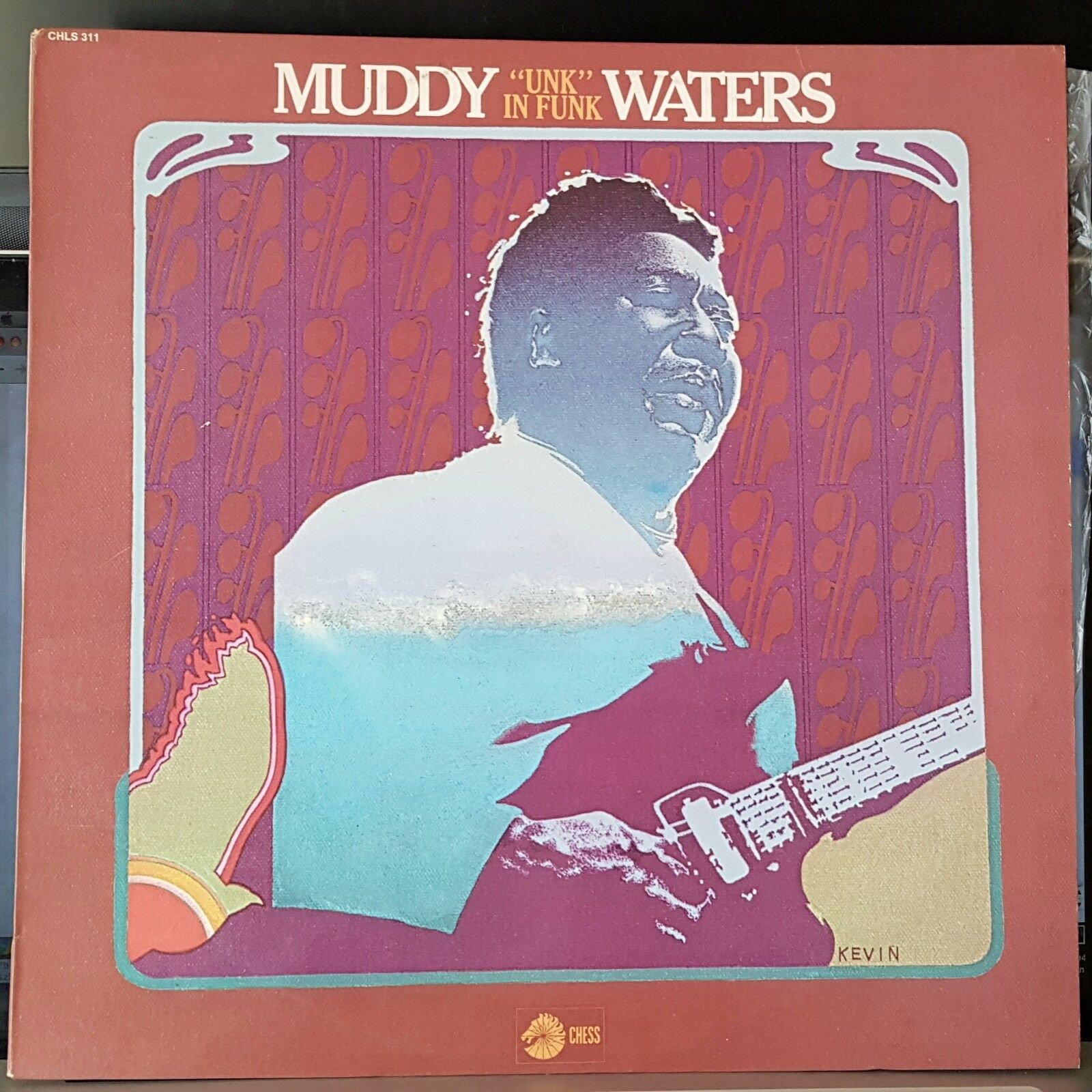 Muddy Waters - Unk In Funk - 1974 Chess blues LP record excellent