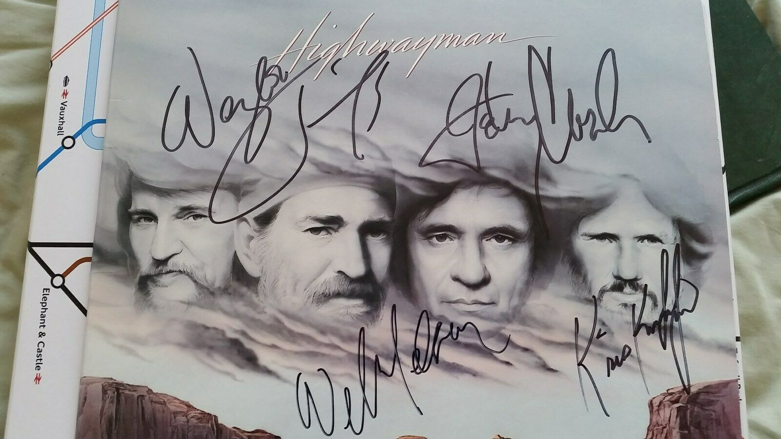 HIGHWAYMEN LP -  JENNINGS, NELSON, JOHNNY CASH, KRISTOFFERSON -  SIGNED BY ALL 4