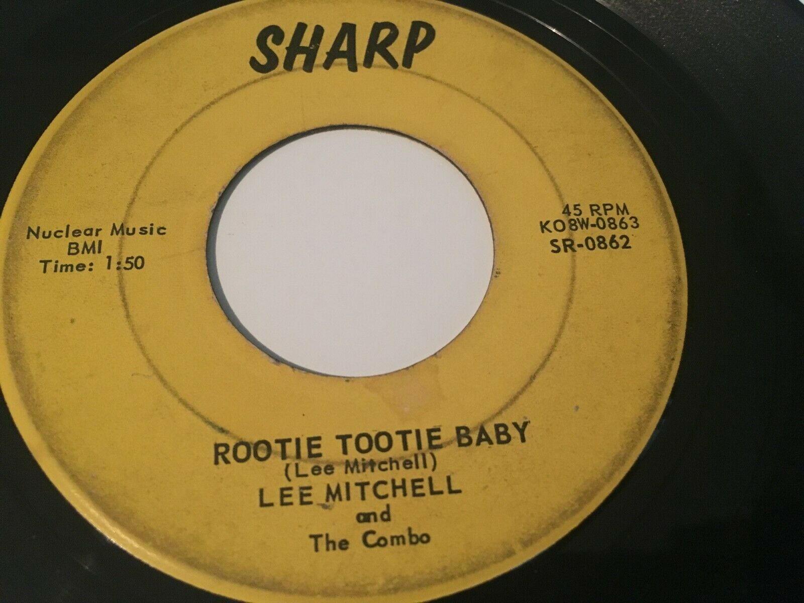 "RARE ROCKABILLY  LEE MITCHELL 1959 ""ROOTIE TOOTIE BABY "" - SHARP SR082 1ST PRESS"