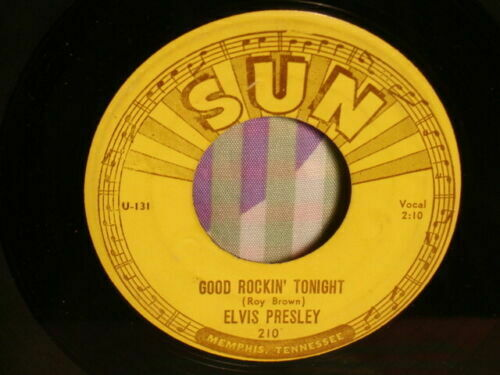 "ELVIS PRESLEY ""Good Rockin' Tonight"" RARE NO SCOTTY +BILL SUN 210 Push Marks VG+"