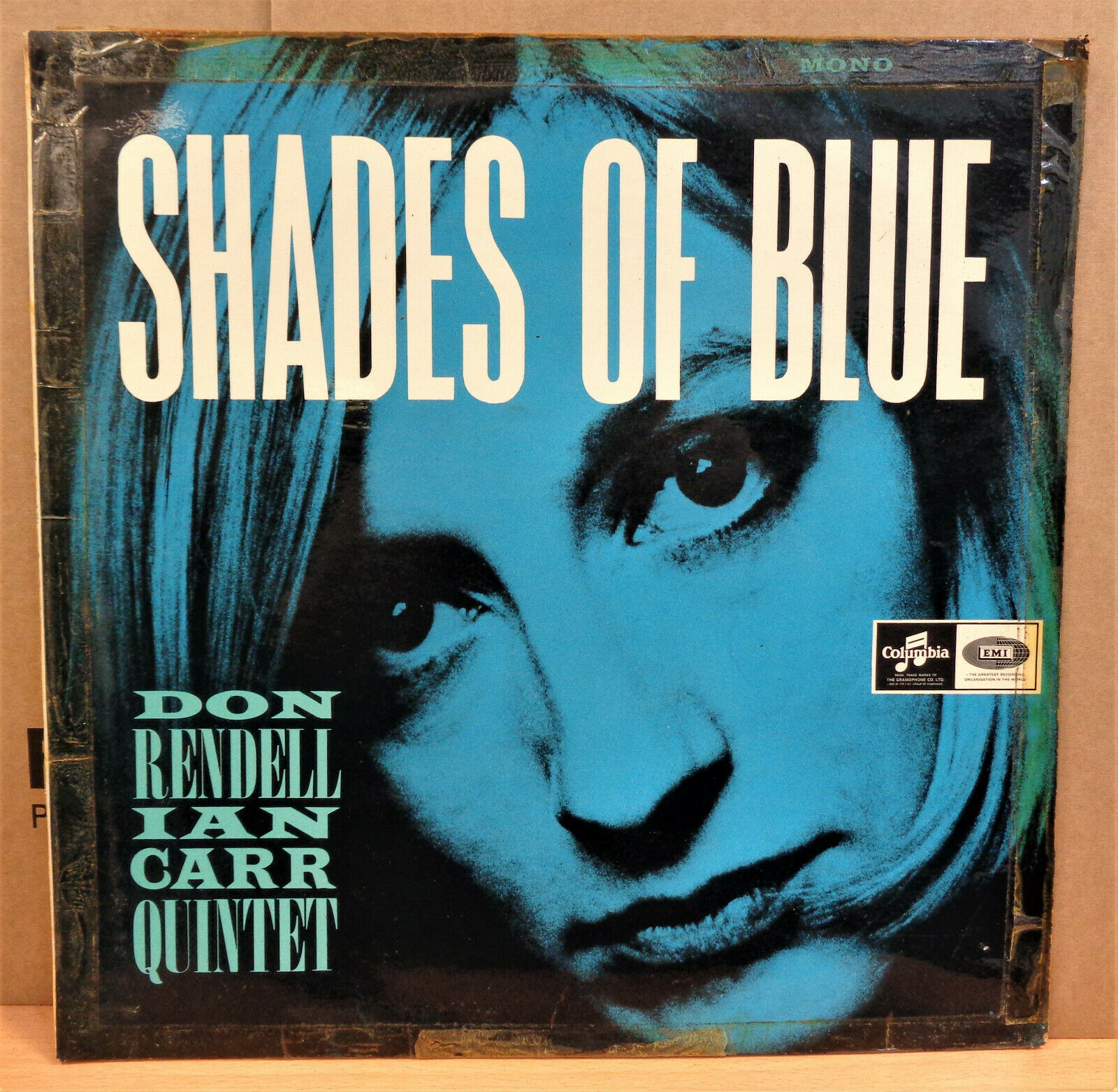 DON RENDELL IAN CARR QUINTET SHADES OF BLUE OG UK MONO COLUMBIA LP SX1733 CLIP
