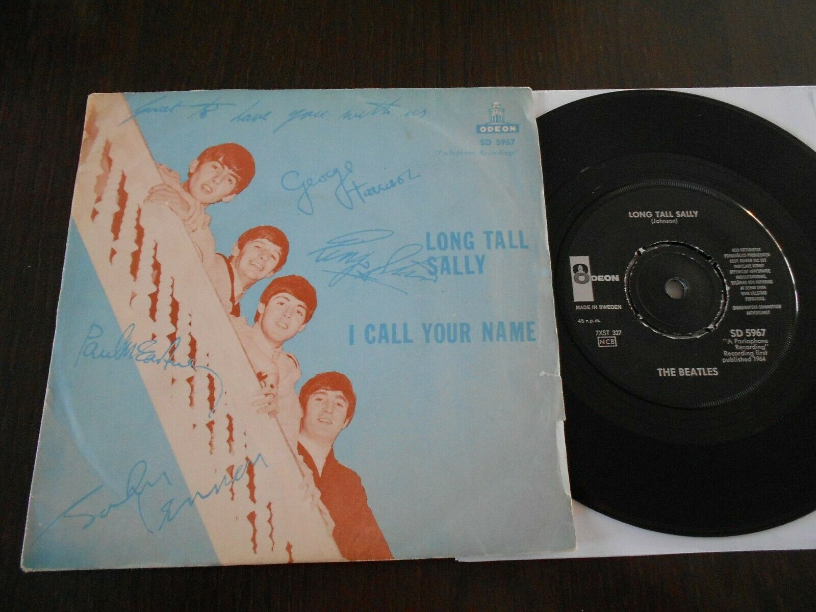THE BEATLES SP LONG TALL SALLY SWEDEN SD 5967  COVER VERY TOUGH SWEDISH