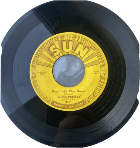 Elvis Presley Baby Lets Play House/ Im Left original Sun 217 45 With Push marks