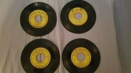 Elvis Presley Original Sun 45 lot(4) 215 217 210x2 Milkcow Blues Lets play house