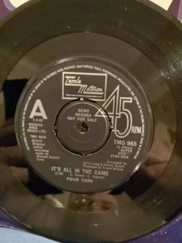 FOUR TOPS RARE DEMO It's all in the game / Bernadette TMG 965 N/MINT PROMO