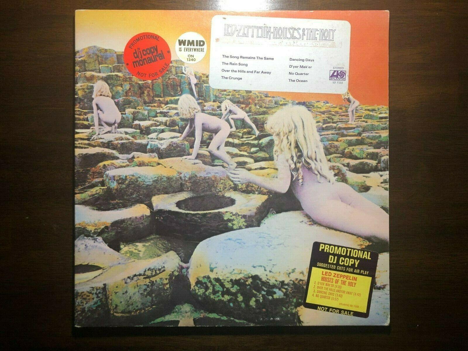 Led Zeppelin Houses of the Holy DJ Promo Vinyl Record Album LP SD 7255 RARE