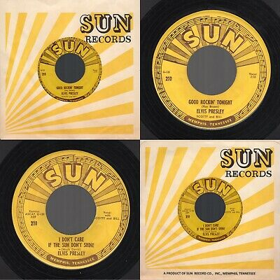 "Original 1954 Sun 210 Elvis Presley "" Good Rockin' Tonight /I Don't Care If.."""
