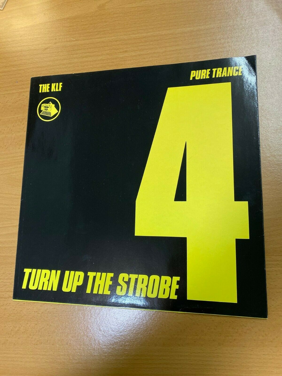 KLF - **** KLF 007T Turn Up The Strobe Record Sleeve PURE TRANCE 4