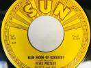 ELVIS PRESLEY 1st Press Misprint UPSIDE DOWN SUN 209 That's Alright / Blue.. 45