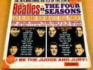 THE BEATLES VS THE FOUR SEASONS US ORIG'64 VJ STEREO 2 RECORD SET STICKER SEARS